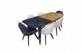 Tavoline Ngrenie Me 6 Karrige
